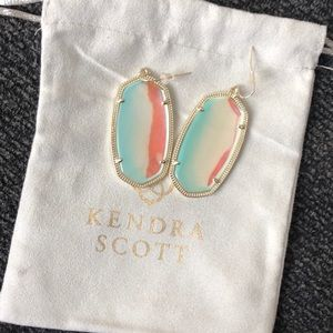 Kendra Scott Dichoric Glass Gold Danielle Earrings